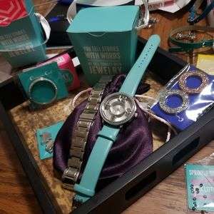 Origami Owl watch and accessories pack